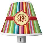 Retro Vertical Stripes Shade Night Light (Personalized)