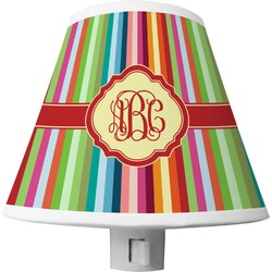 Retro Vertical Stripes Shade Night Light (Personalized)