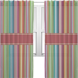 Retro Vertical Stripes Sheer Curtains (Personalized)