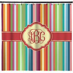 Retro Vertical Stripes Shower Curtain (Personalized)