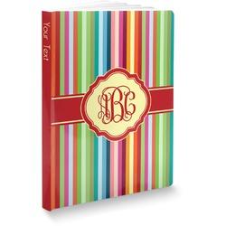 Retro Vertical Stripes Softbound Notebook (Personalized)