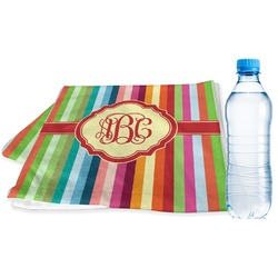 Retro Vertical Stripes Sports Towel (Personalized)