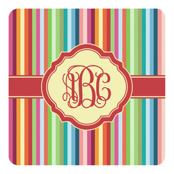 Retro Vertical Stripes Square Decal - Custom Size (Personalized)