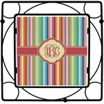 Retro Vertical Stripes Square Trivet (Personalized)