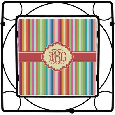 Retro Vertical Stripes Square Trivet (Personalized)