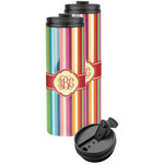 Retro Vertical Stripes Stainless Steel Skinny Tumbler (Personalized)