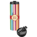 Retro Vertical Stripes Stainless Steel Tumbler (Personalized)