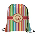 Retro Vertical Stripes Drawstring Backpack (Personalized)