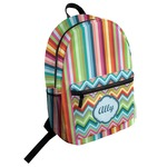 Retro Vertical Stripes Student Backpack (Personalized)