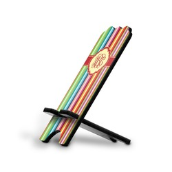Retro Vertical Stripes Stylized Phone Stand (Personalized)