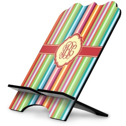 Retro Vertical Stripes Stylized Tablet Stand (Personalized)