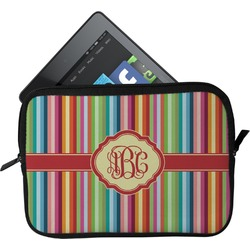 Retro Vertical Stripes Tablet Case / Sleeve - Small (Personalized)