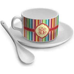 Retro Vertical Stripes Tea Cups (Personalized)