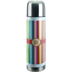 Retro Vertical Stripes Stainless Steel Thermos (Personalized)
