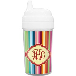 Retro Vertical Stripes Toddler Sippy Cup (Personalized)