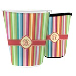 Retro Vertical Stripes Waste Basket (Personalized)