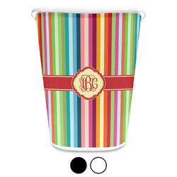 Retro Vertical Stripes Waste Basket (Personalized)