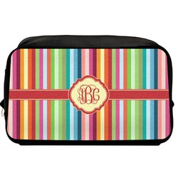 Retro Vertical Stripes Toiletry Bag / Dopp Kit (Personalized)