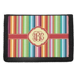 Retro Vertical Stripes Trifold Wallet (Personalized)