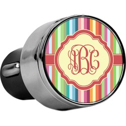 Retro Vertical Stripes USB Car Charger (Personalized)