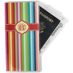 Retro Vertical Stripes Travel Document Holder