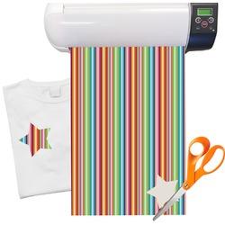 "Retro Vertical Stripes Heat Transfer Vinyl Sheet (12""x18"")"