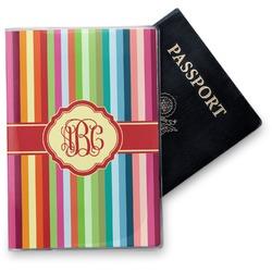 Retro Vertical Stripes Vinyl Passport Holder (Personalized)