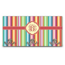 Retro Vertical Stripes Wall Mounted Coat Rack (Personalized)