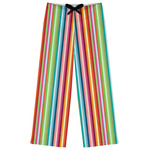 Retro Vertical Stripes Womens Pajama Pants (Personalized)
