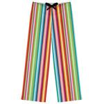 Retro Vertical Stripes Womens Pajama Pants (Personalized)