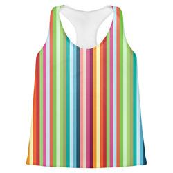 Retro Vertical Stripes Womens Racerback Tank Top (Personalized)