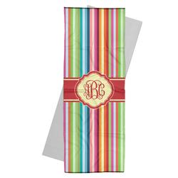 Retro Vertical Stripes Yoga Mat Towel (Personalized)
