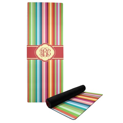 Retro Vertical Stripes Yoga Mat (Personalized)