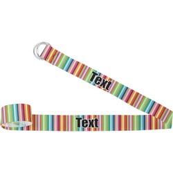 Retro Vertical Stripes Yoga Strap (Personalized)