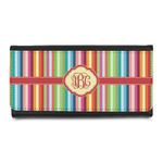 Retro Vertical Stripes Leatherette Ladies Wallet (Personalized)