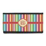 Retro Vertical Stripes Leatherette Ladies Wallet (Personalized)