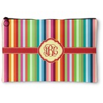 Retro Vertical Stripes Zipper Pouch (Personalized)