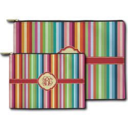 Retro Vertical Stripes Zipper Pouch (Personalized)
