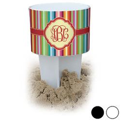 Retro Vertical Stripes Beach Spiker Drink Holder (Personalized)