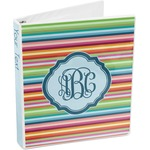 Retro Horizontal Stripes 3-Ring Binder (Personalized)