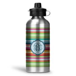 Retro Horizontal Stripes Water Bottle - Aluminum - 20 oz (Personalized)
