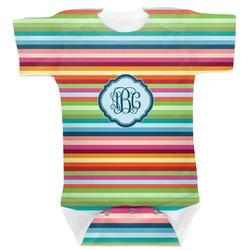 Retro Horizontal Stripes Baby Bodysuit (Personalized)