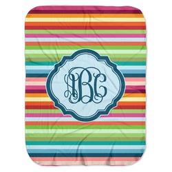 Retro Horizontal Stripes Baby Swaddling Blanket (Personalized)
