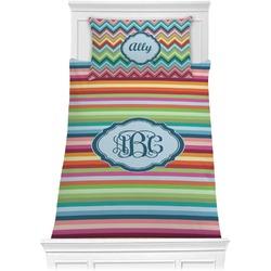 Retro Horizontal Stripes Comforter Set - Twin (Personalized)
