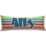 Retro Horizontal Stripes Body Pillow Case (Personalized)