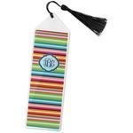 Retro Horizontal Stripes Book Mark w/Tassel (Personalized)