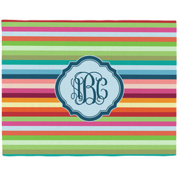 Retro Horizontal Stripes Placemat (Fabric) (Personalized)