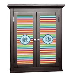 Retro Horizontal Stripes Cabinet Decal - Custom Size (Personalized)