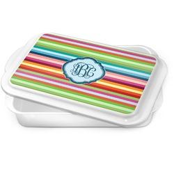 Retro Horizontal Stripes Cake Pan (Personalized)