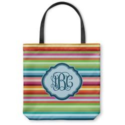 Retro Horizontal Stripes Canvas Tote Bag (Personalized)